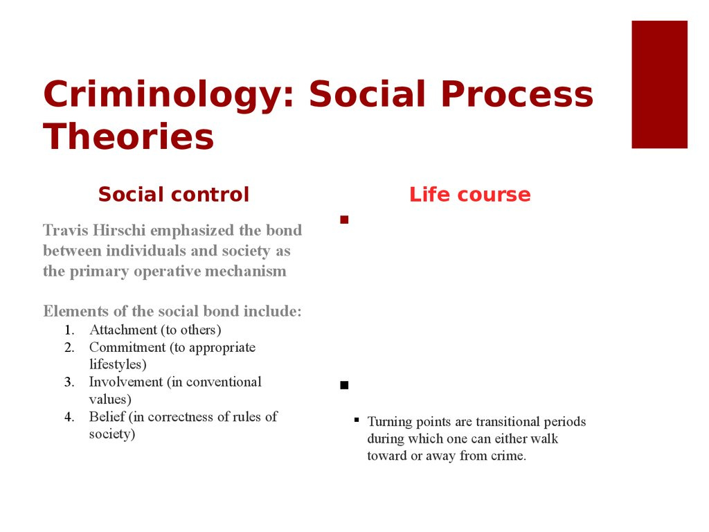 Criminology: Social Process Theories