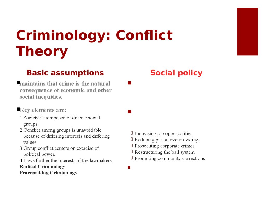 Criminology: Conflict Theory