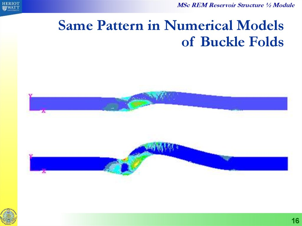 Same Pattern in Numerical Models of Buckle Folds