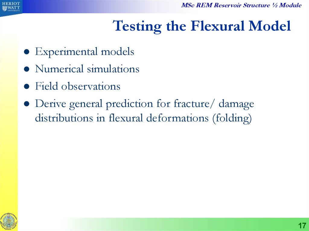 Testing the Flexural Model
