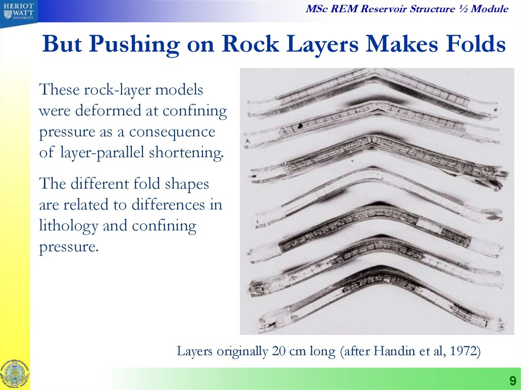 But Pushing on Rock Layers Makes Folds