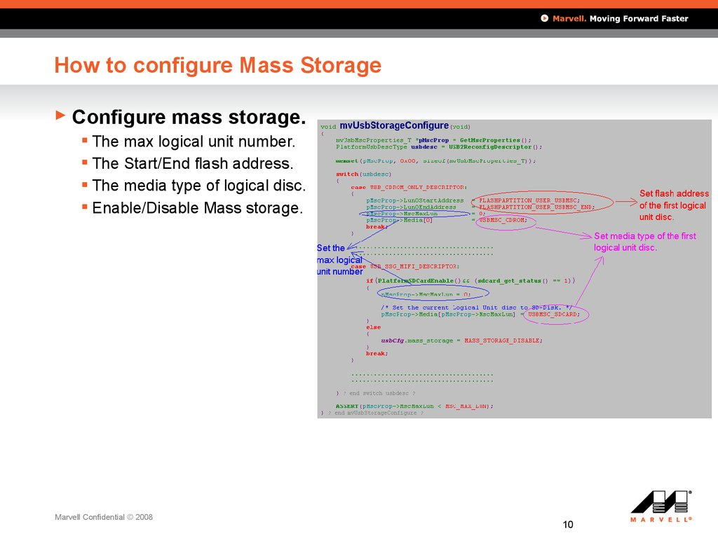 How to configure Mass Storage
