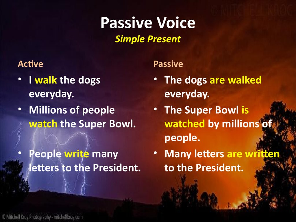 Passive voice fill in present simple past simple Most