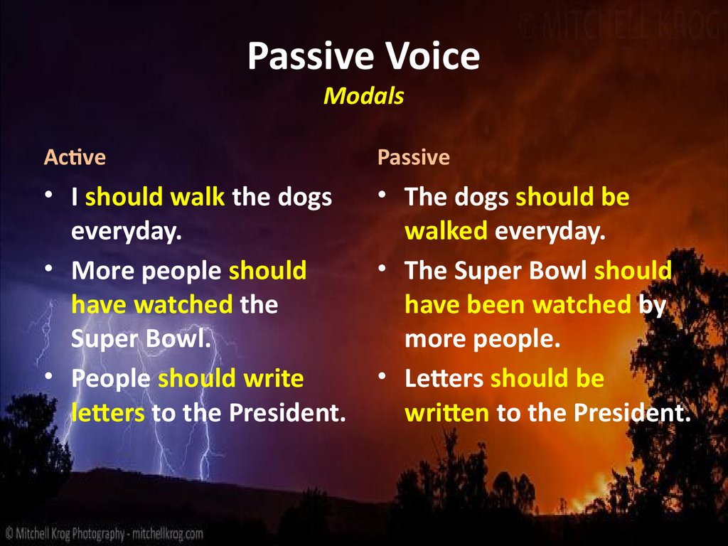 passive to active voices Start studying passive and active voice learn vocabulary, terms, and more with flashcards, games, and other study tools.