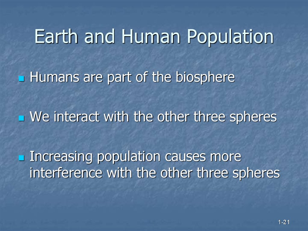 Earth and Human Population