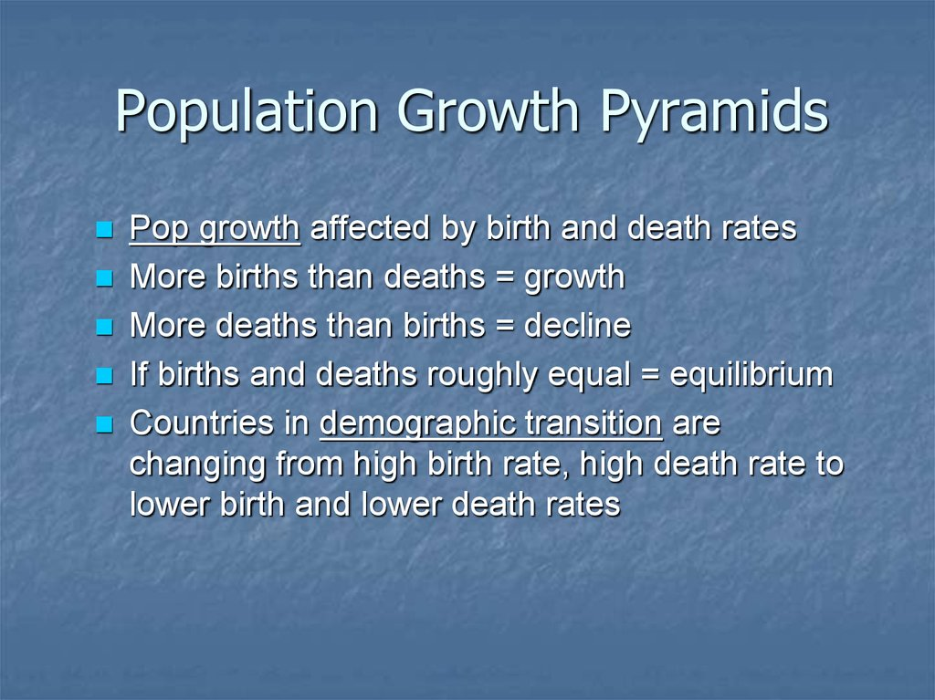 Population Growth Pyramids