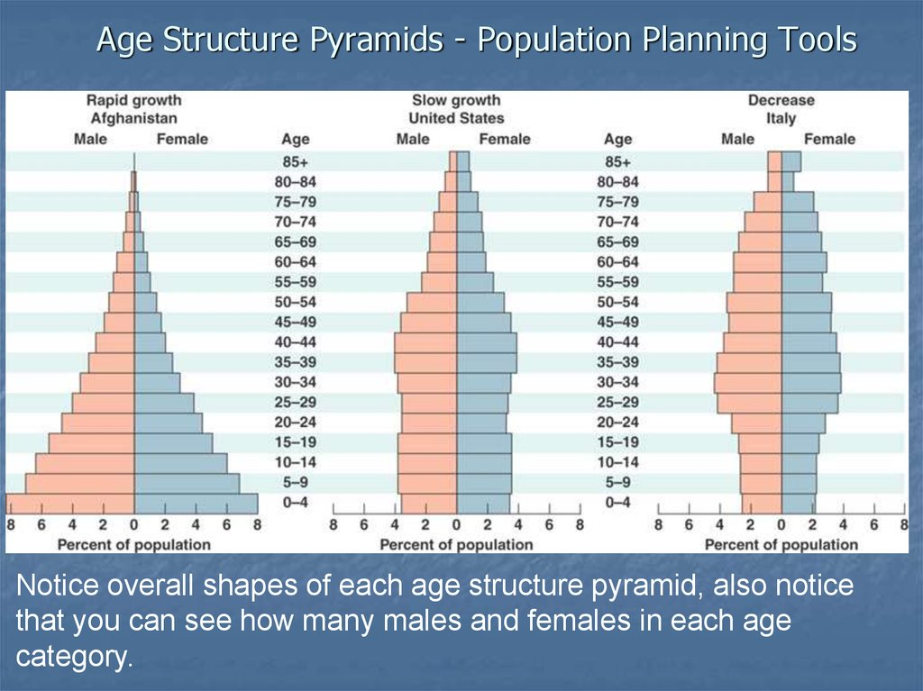 Age Structure Pyramids - Population Planning Tools