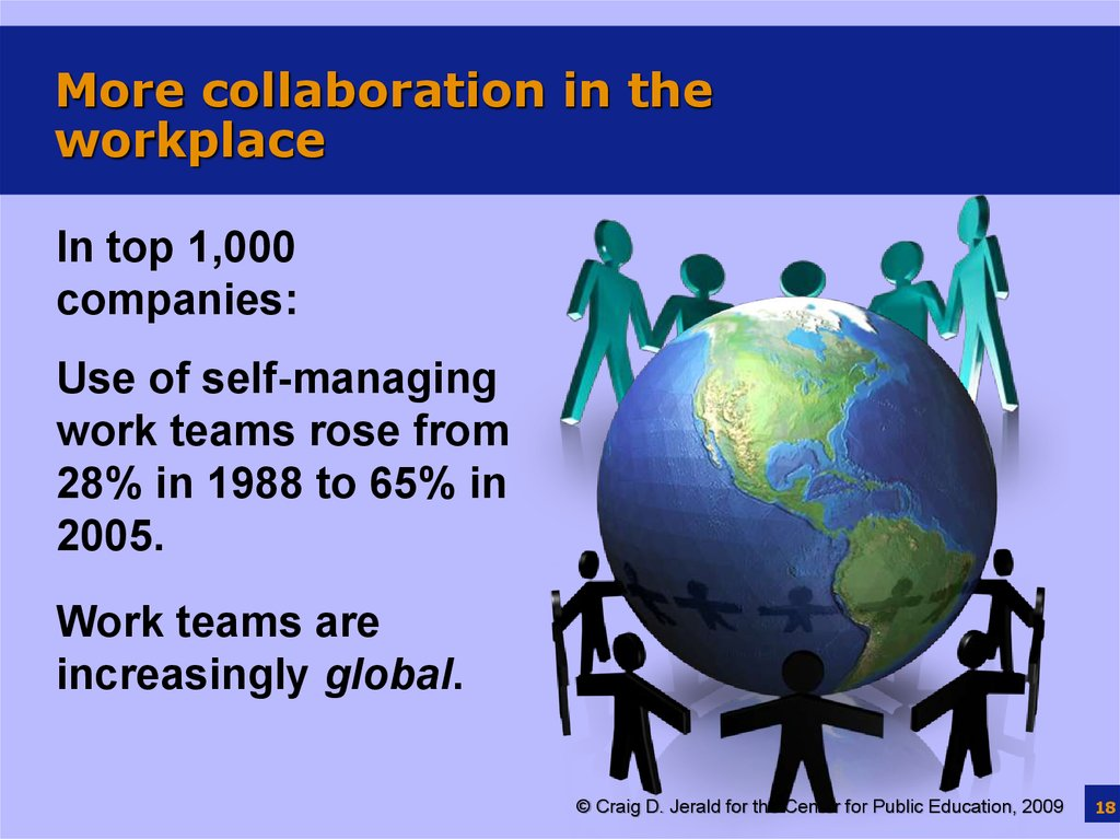 More collaboration in the workplace