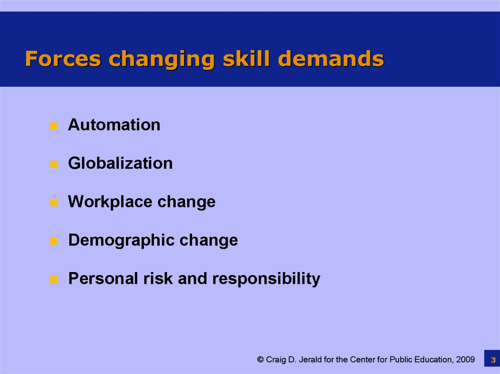 Forces changing skill demands