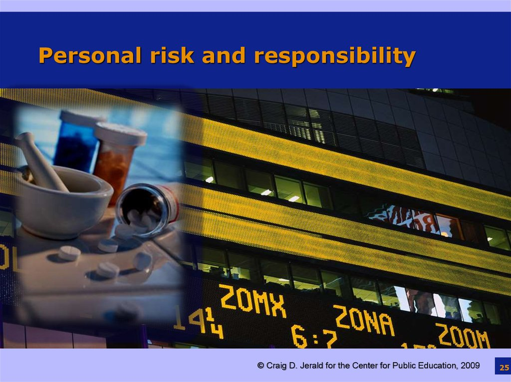 Personal risk and responsibility