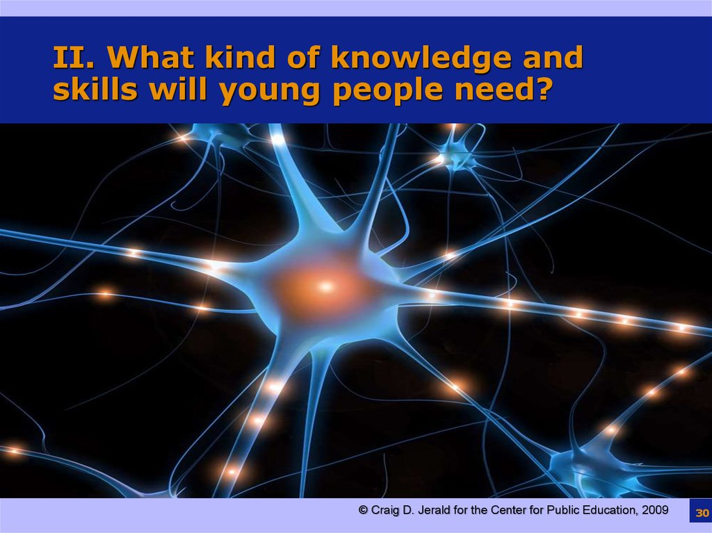 II. What kind of knowledge and skills will young people need?