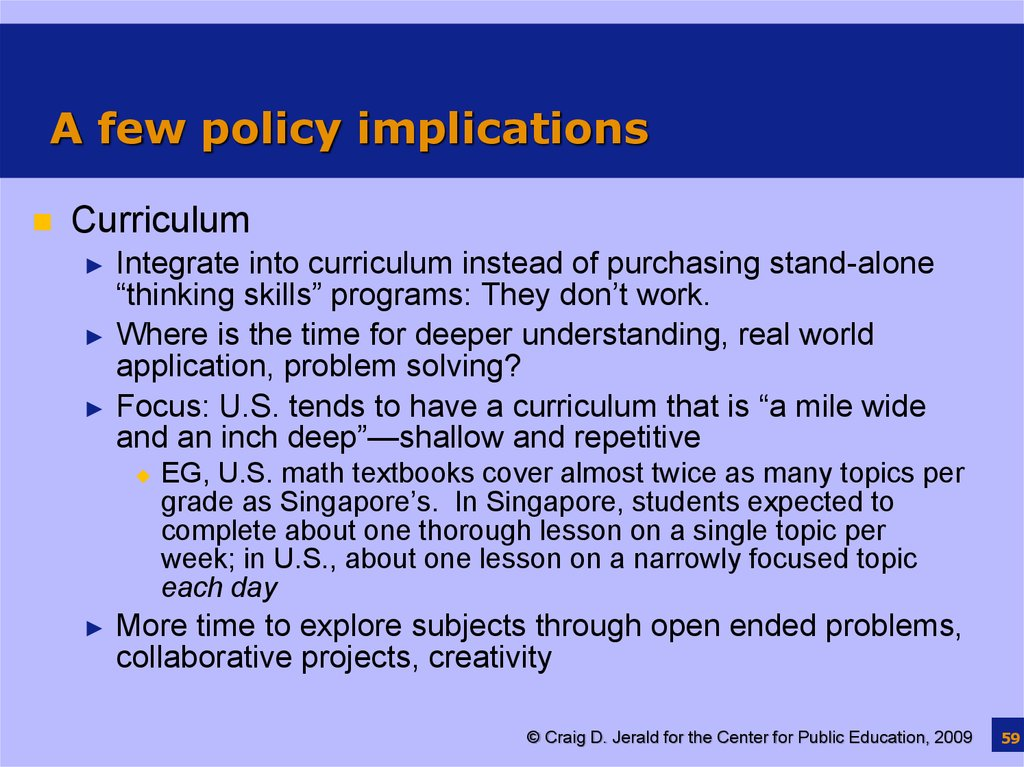 curricular implications for students essay