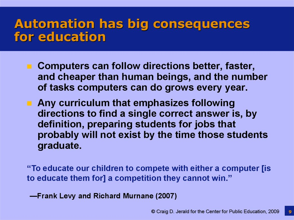 Automation has big consequences for education