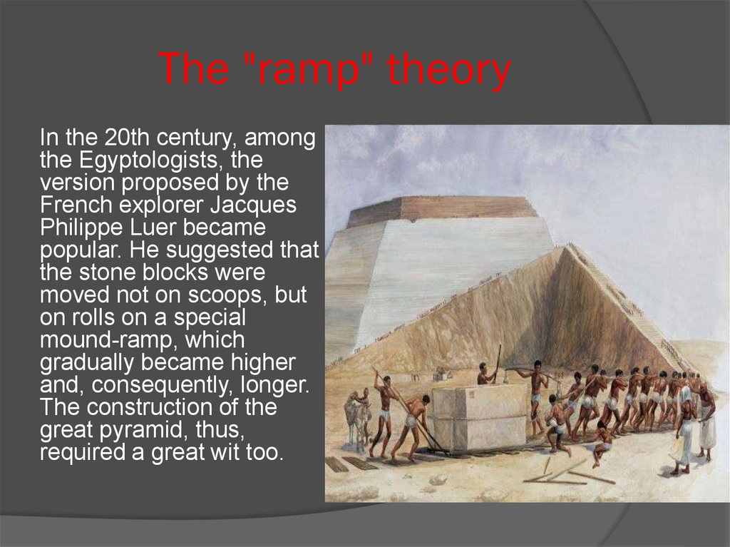 "The ""ramp"" theory"