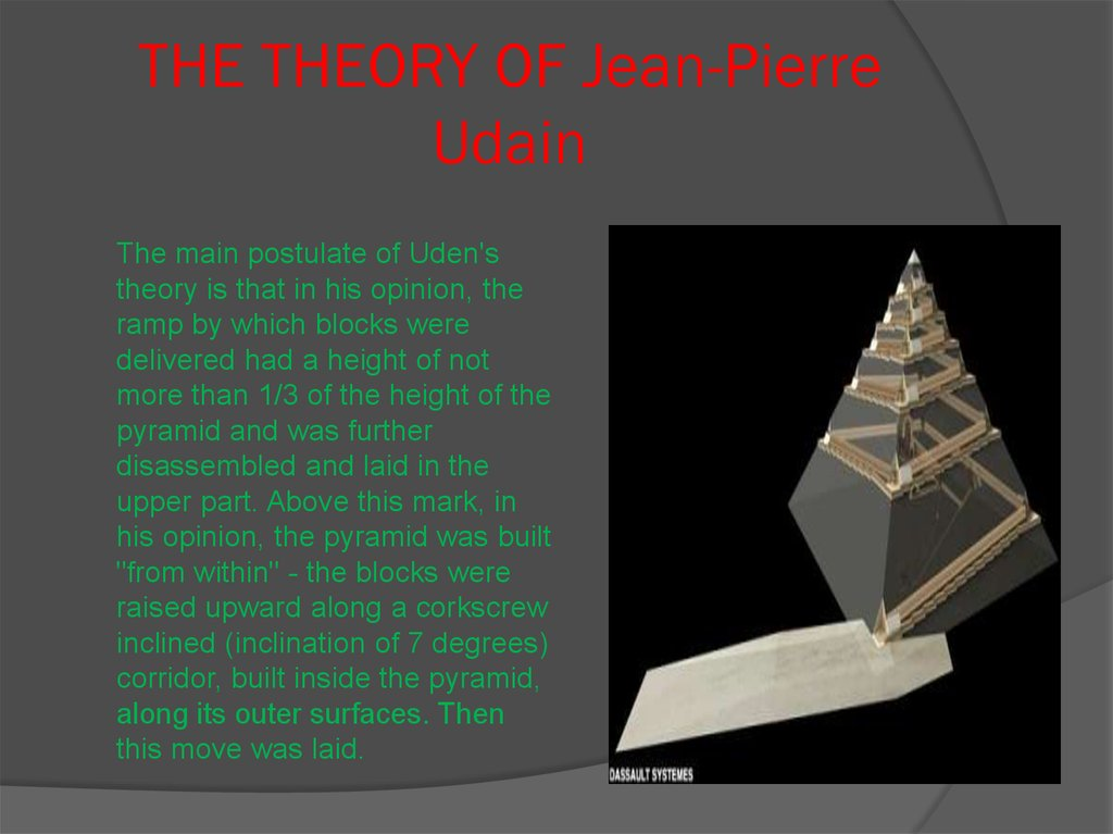 THE THEORY OF Jean-Pierre Udain