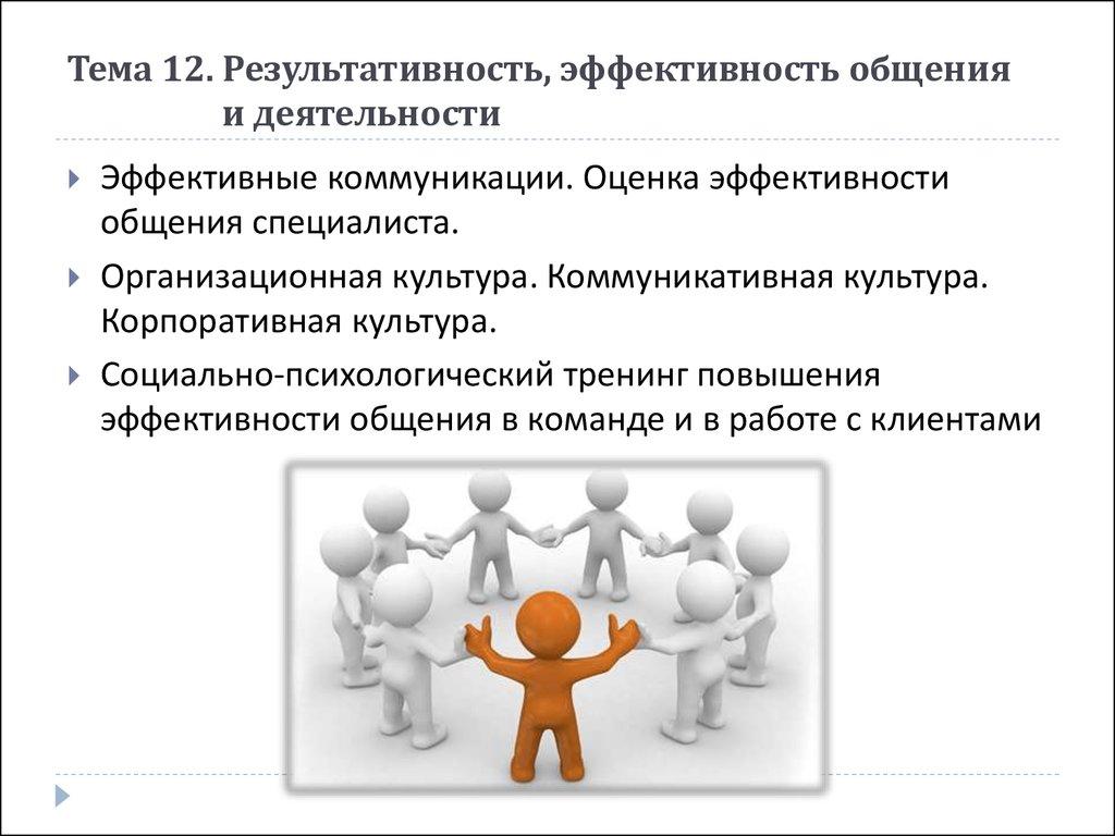 Взаимосвязь общения и эффективности деятельности