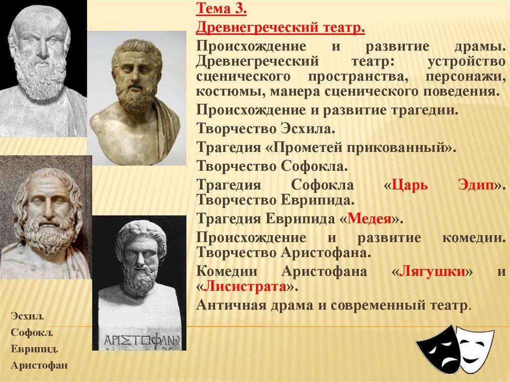 Хоры в древнегреческих трагедиях