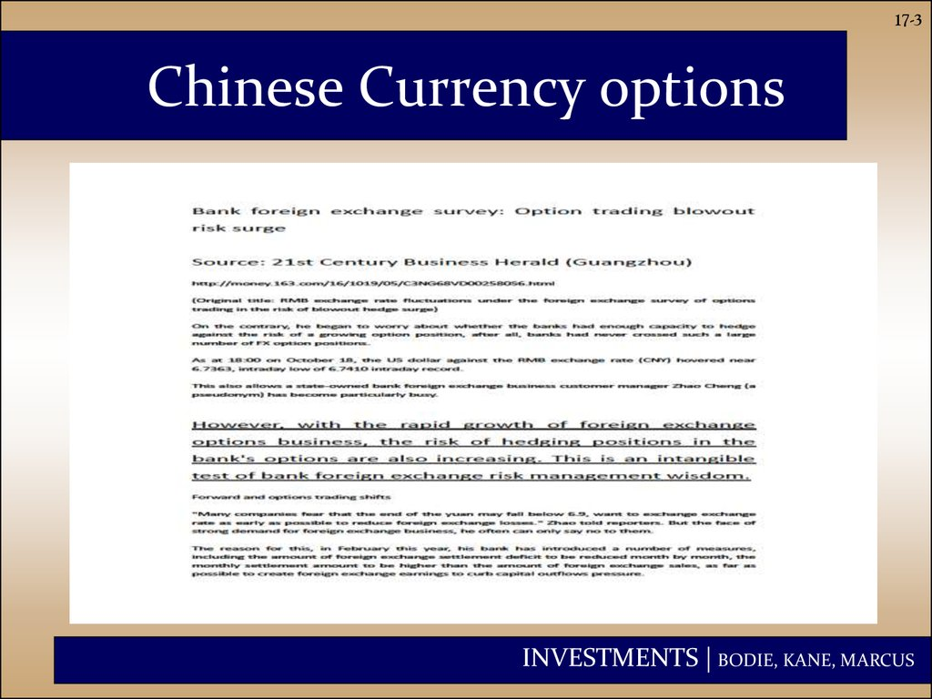 Chinese Currency options