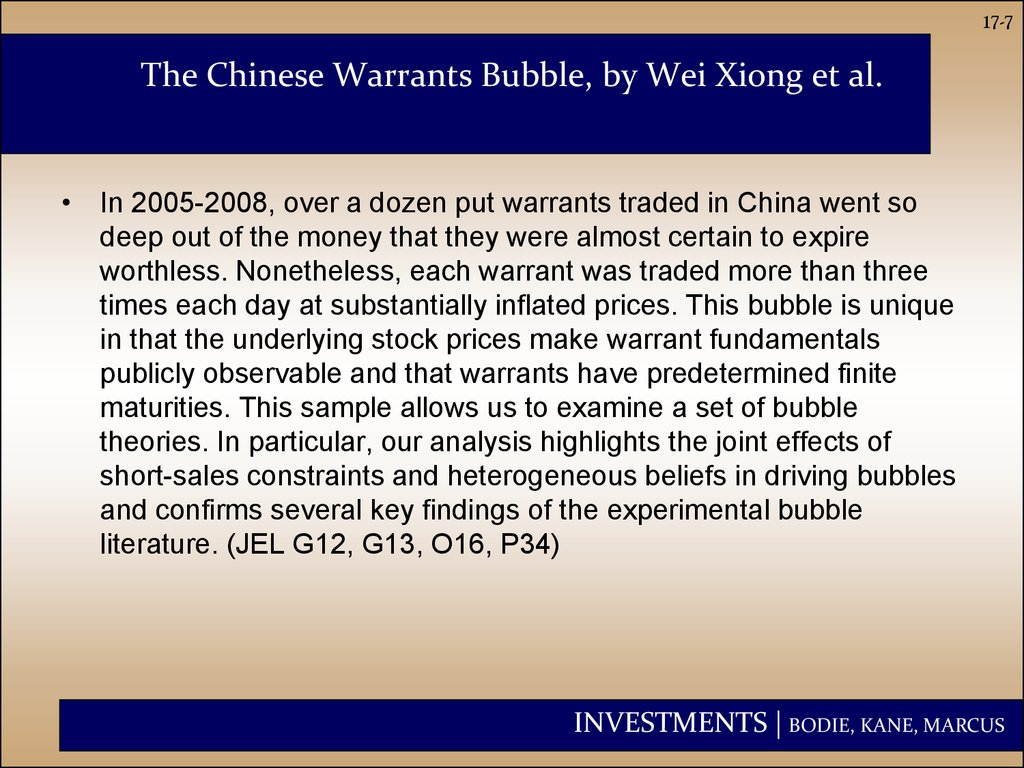 The Chinese Warrants Bubble, by Wei Xiong et al.