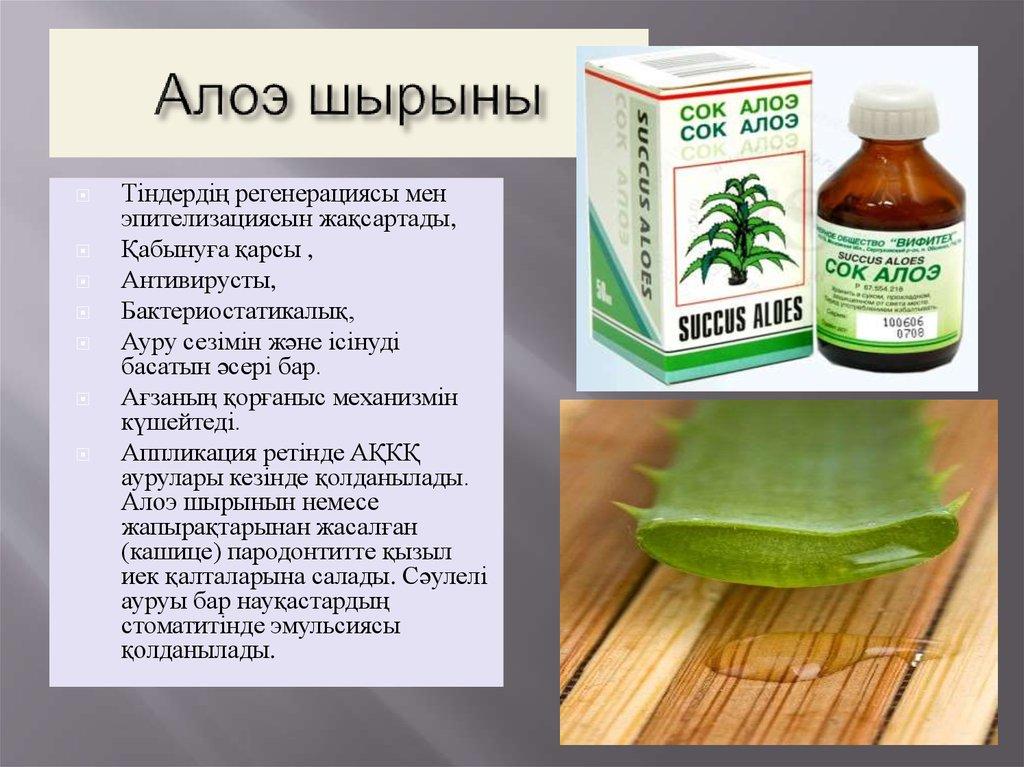 Лекарства от похудения алоэ