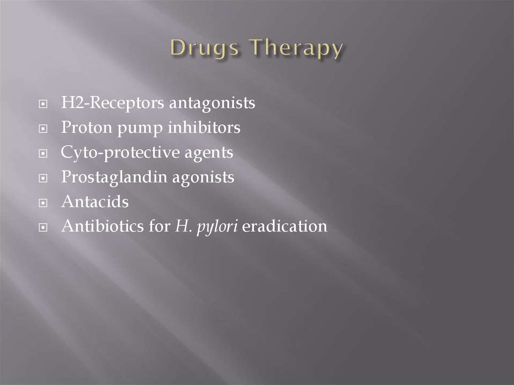 Drugs Therapy