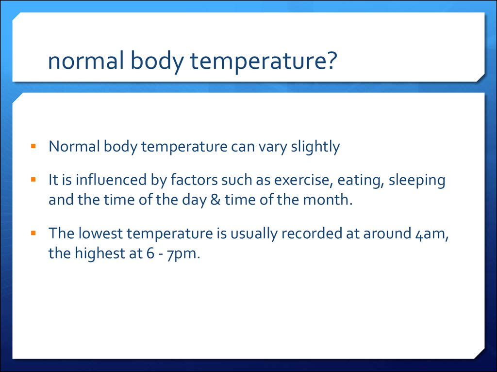 normal body temperature?