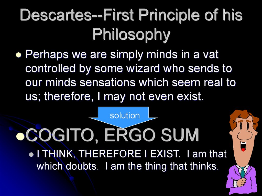 Descartes--First Principle of his Philosophy