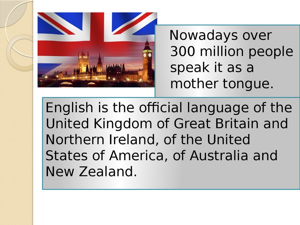 English As A World Language презентация онлайн - English as a world language