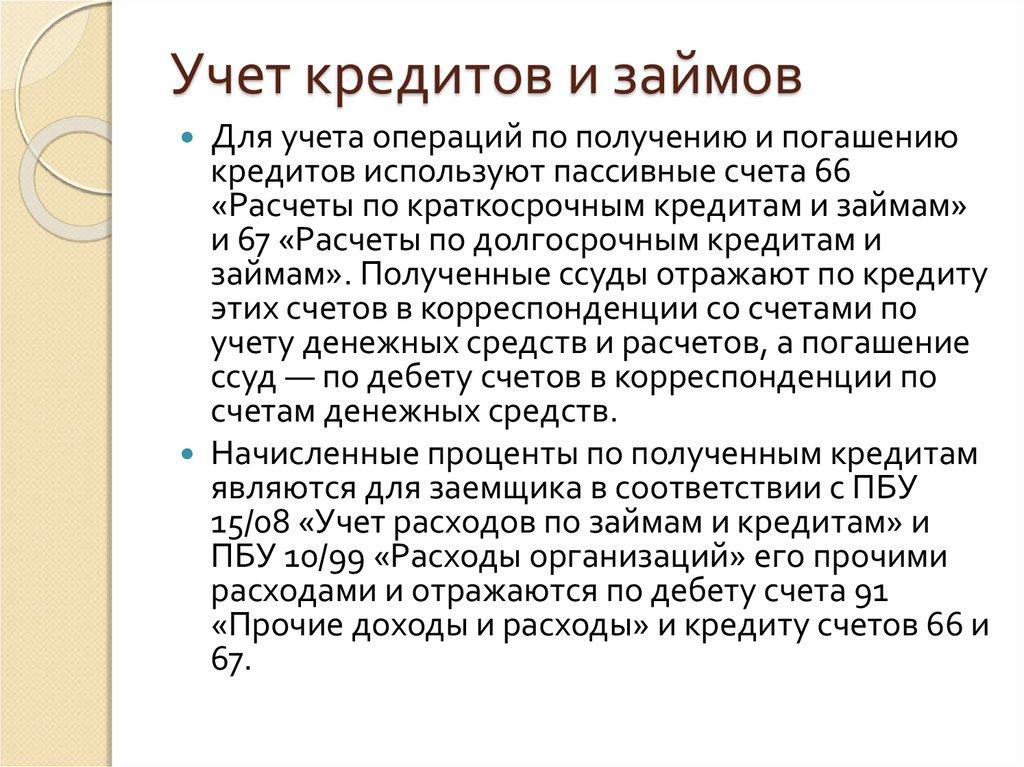 Учёт Кредитов, Займов И Государственной Помощи Шпаргалка