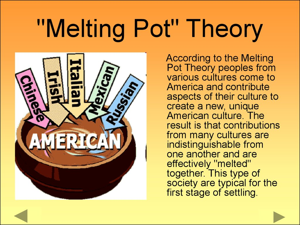 American Culture Melting Pot American society - п�...