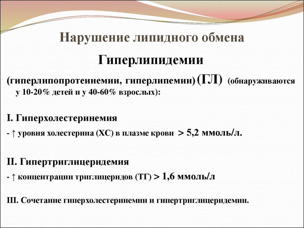 Патология липидного обмена реферат 9160