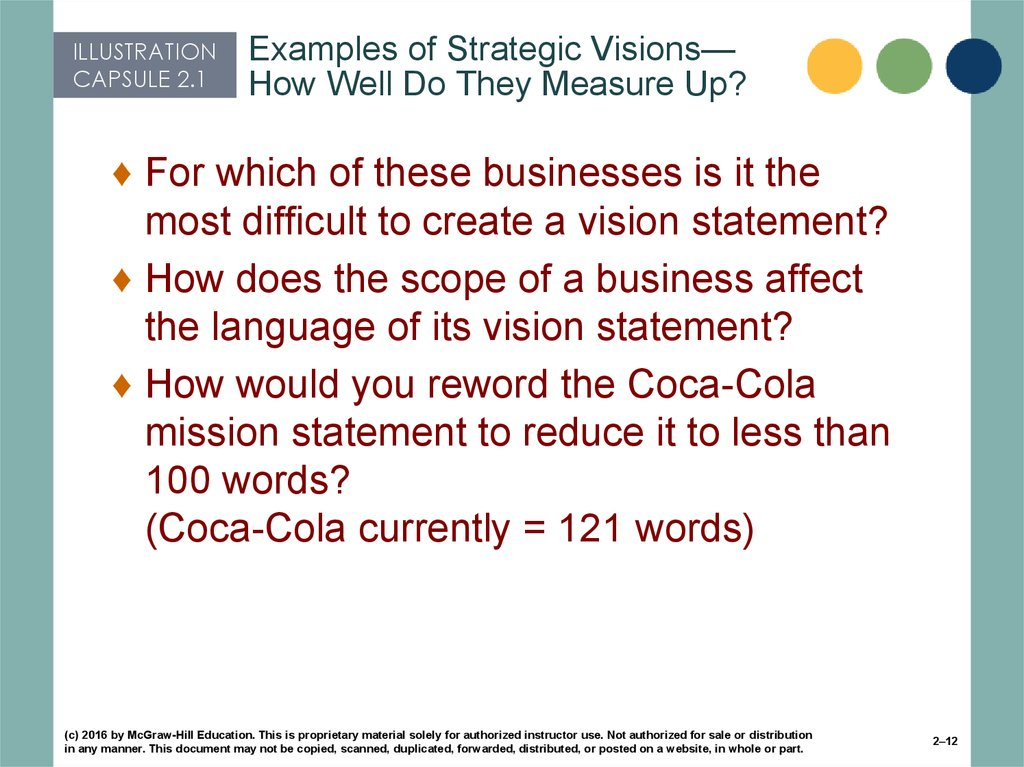 Examples of Strategic Visions—How Well Do They Measure Up?
