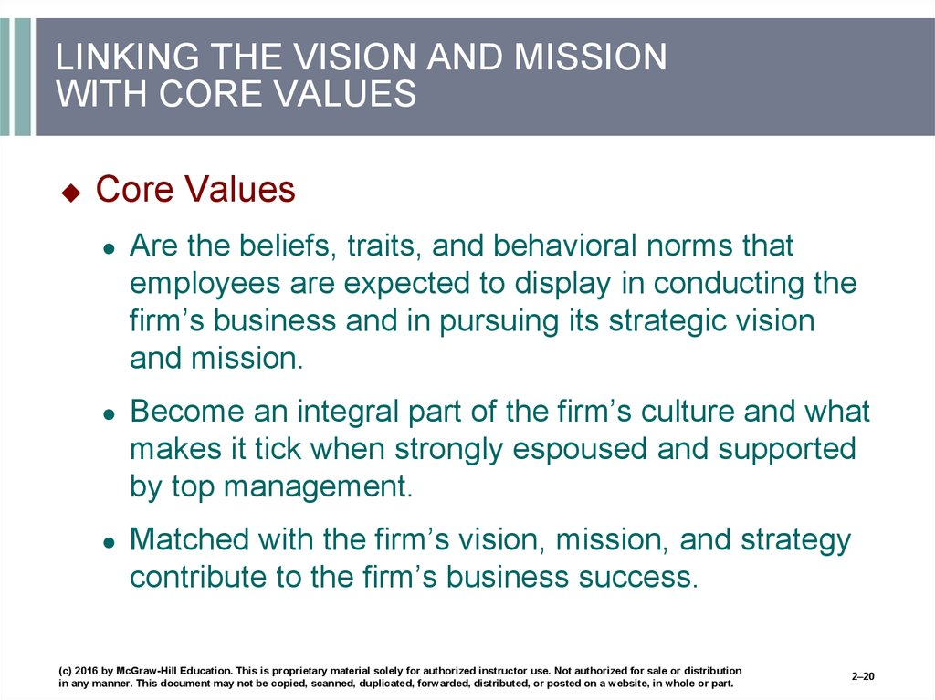 chapter 2 the business vision and