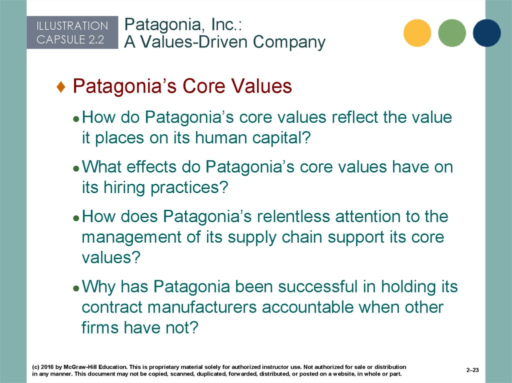Patagonia, Inc.: A Values-Driven Company