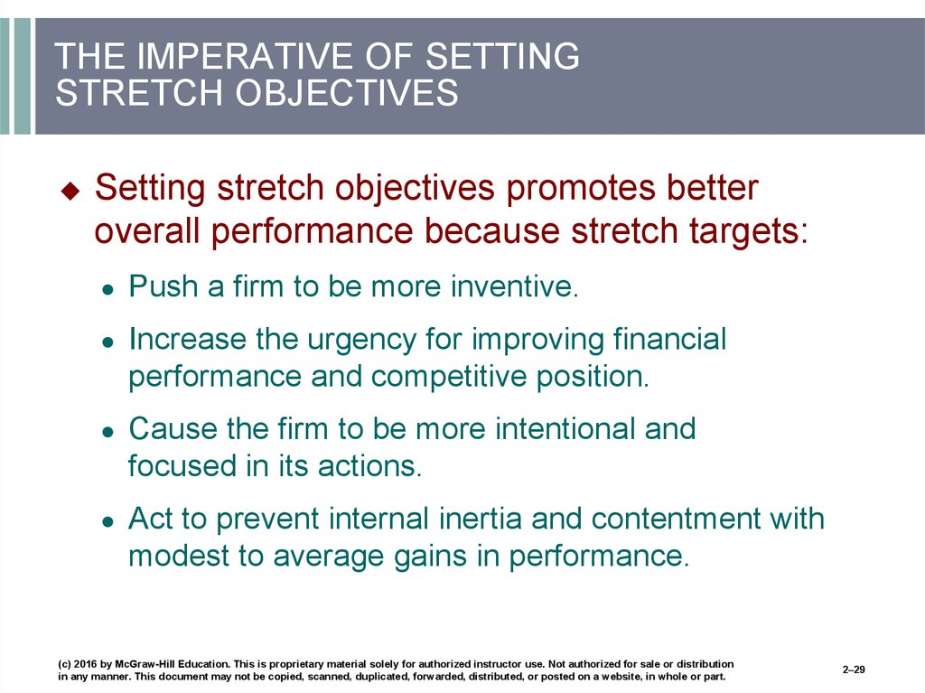 THE IMPERATIVE OF SETTING STRETCH OBJECTIVES