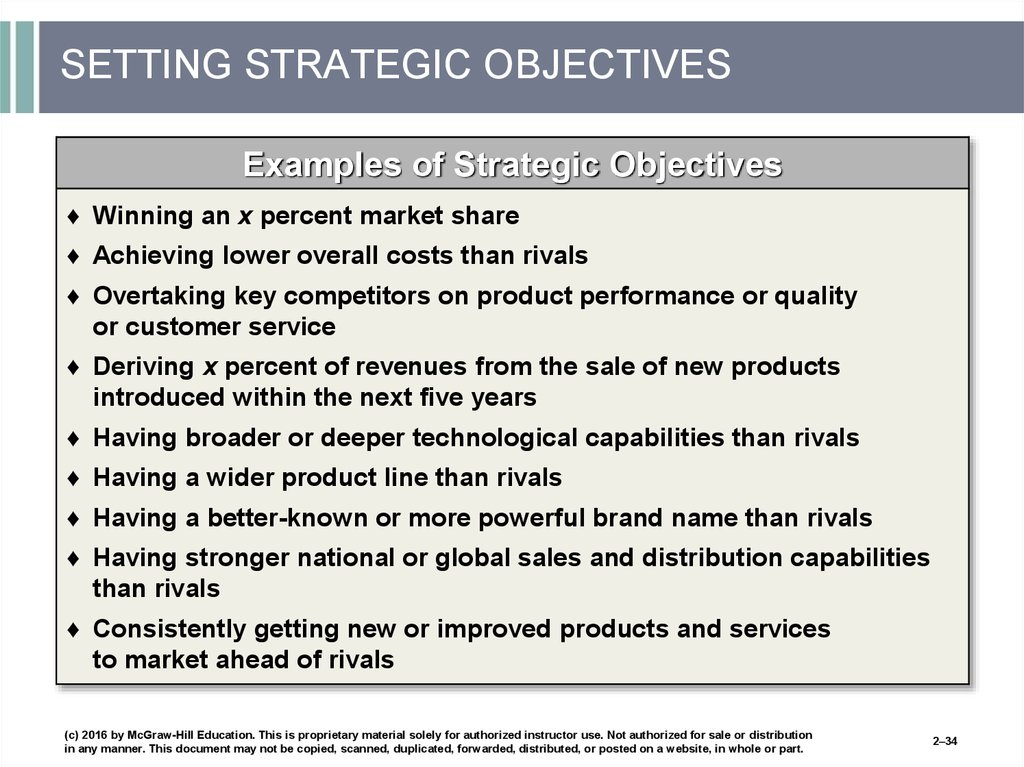 SETTING STRATEGIC OBJECTIVES