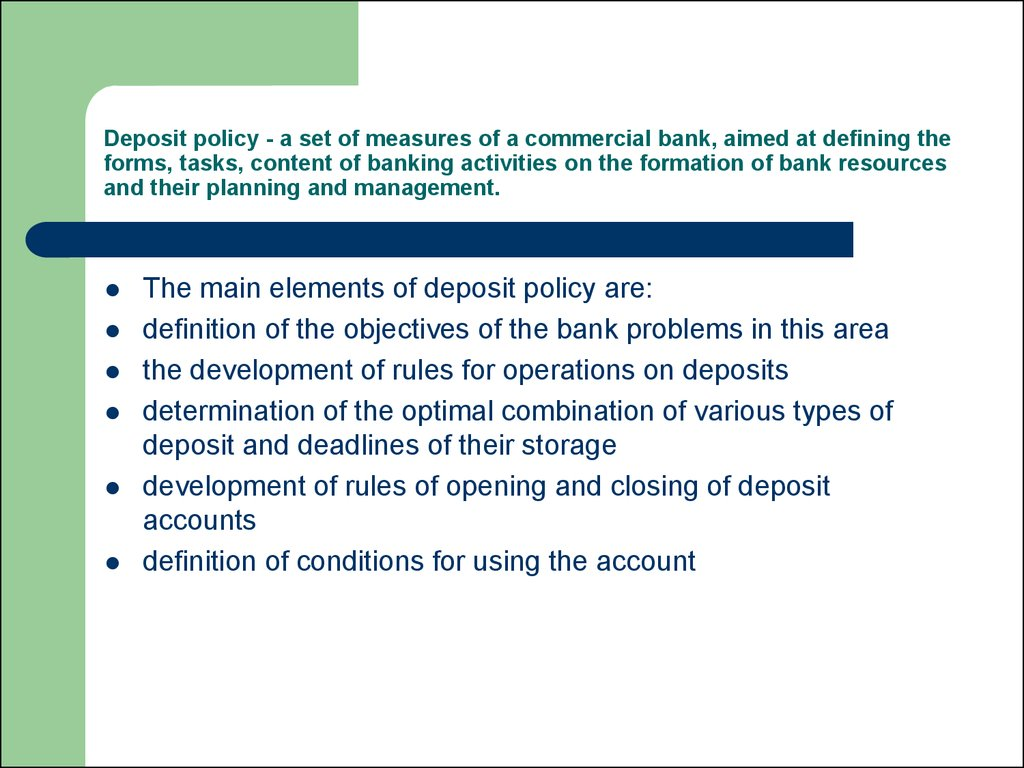types of deposits in commercial banks