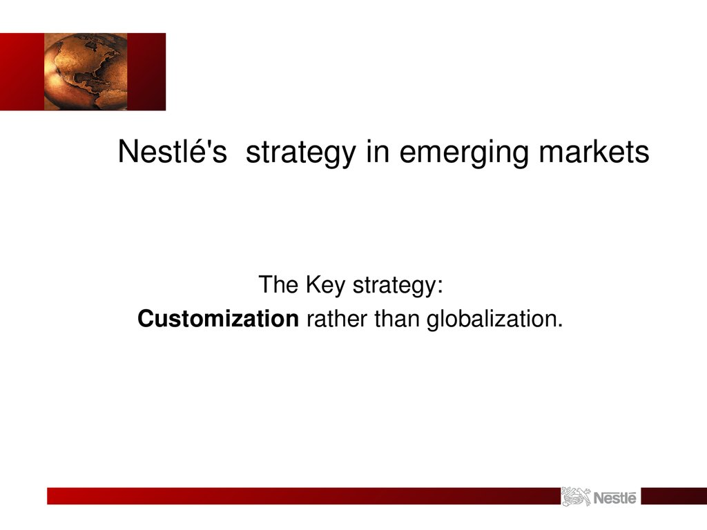 Nestlé's strategy in emerging markets