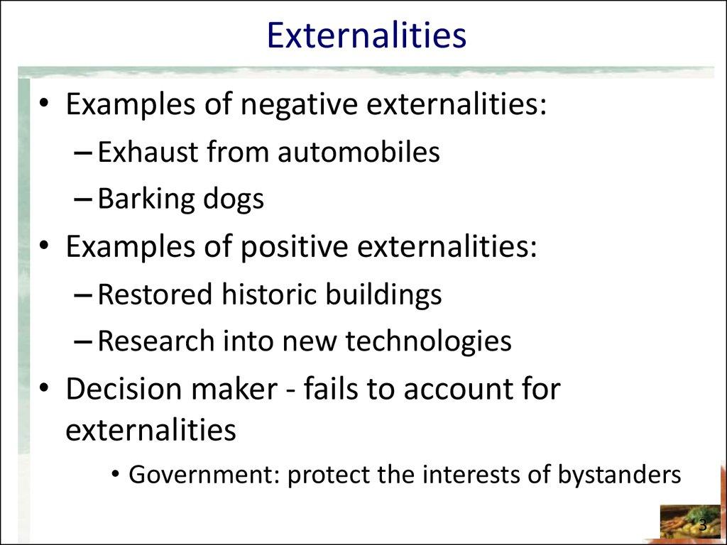 Chapter 10 Externalities Online Presentation