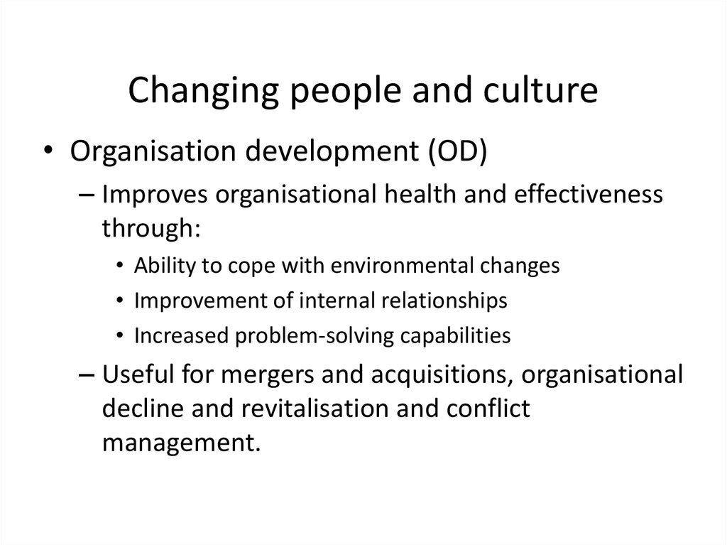 managing change in organisations improved