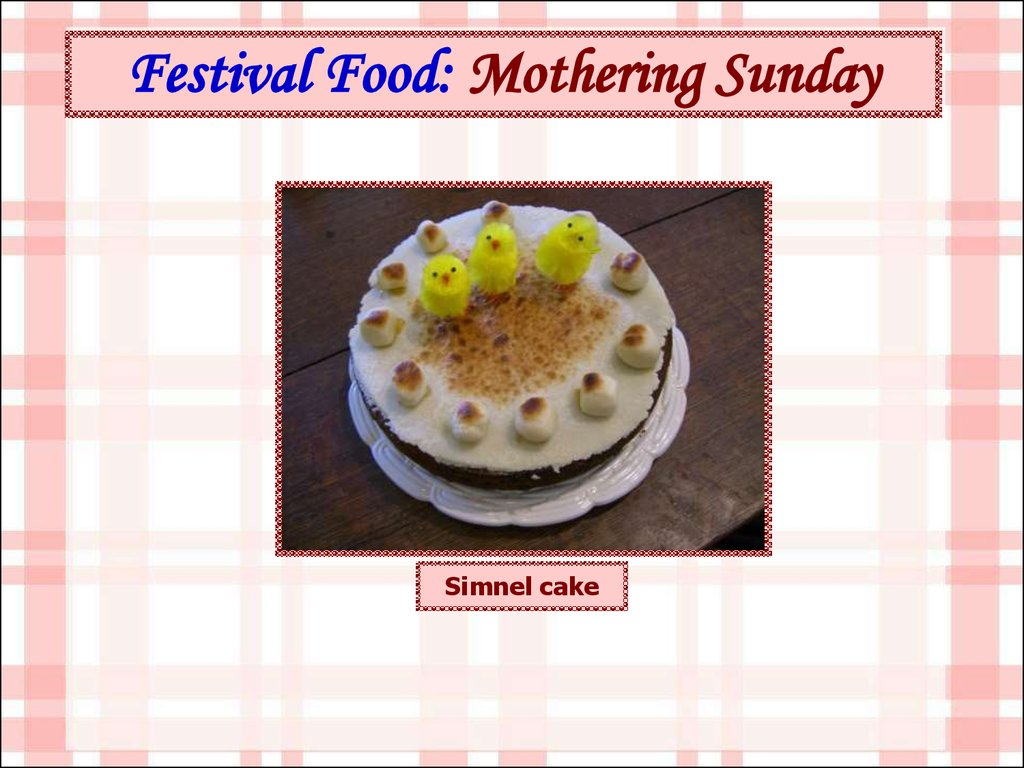 Festival Food: Mothering Sunday
