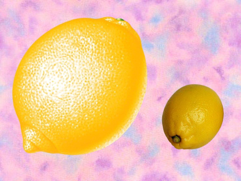 Большие и маленькие фрукты в картинках