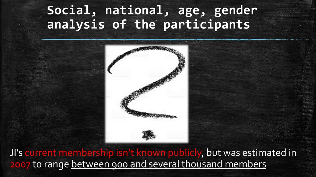 Social, national, age, gender analysis of the participants