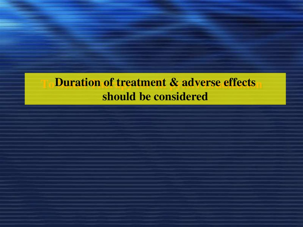 To Select Therapy for H. pylori Eradication