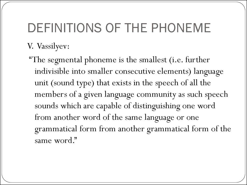 Phonological Analysis Of Speech Sounds Lecture 5 Online Presentation