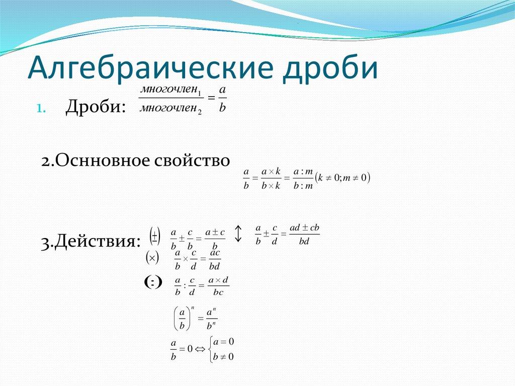 картинки алгебраические дроби