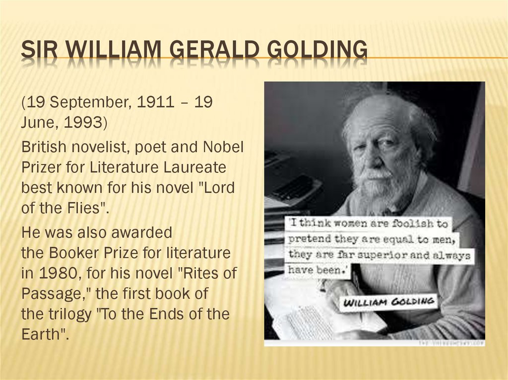Sir William Gerald Golding