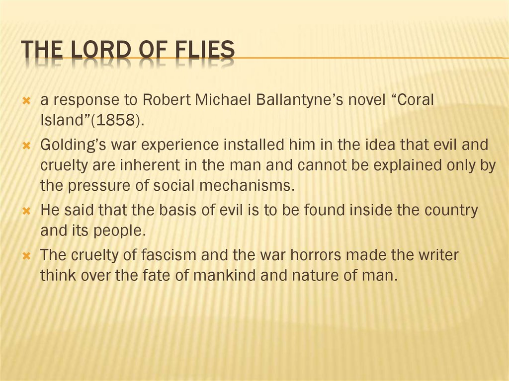 The Lord of Flies