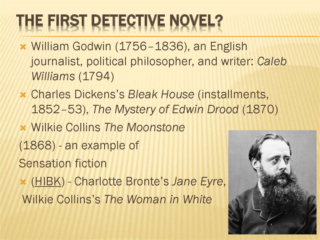 The First Detective Novel?