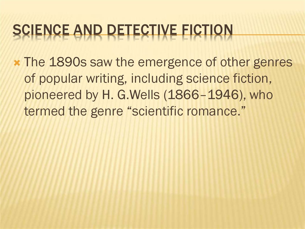 Science and Detective Fiction